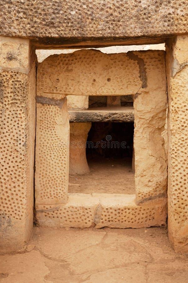 Altar em templos neolithic de Mnajdra. Malta fotos de stock royalty free