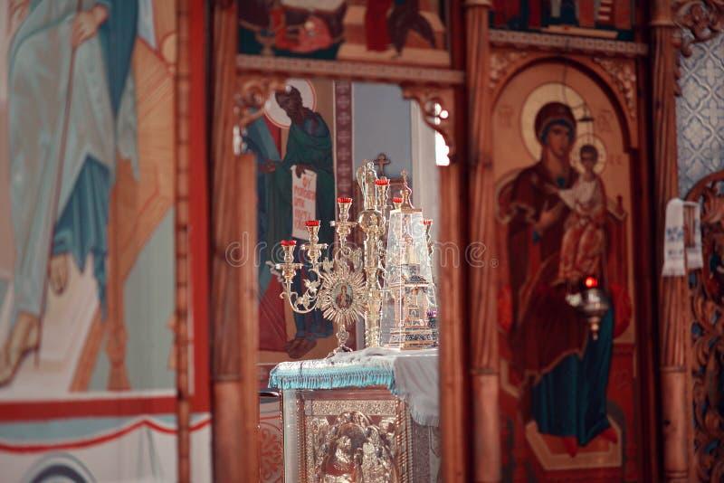 Altar en el templo fotografía de archivo libre de regalías