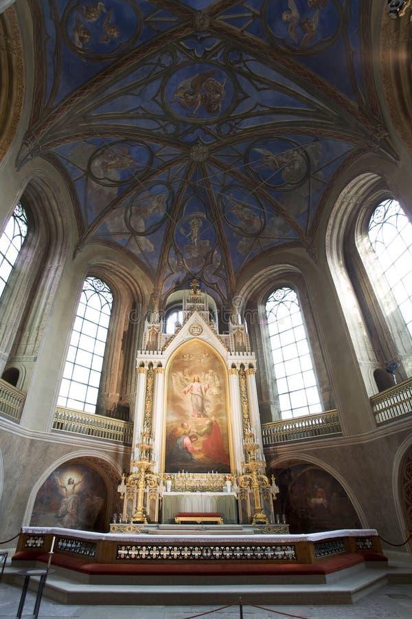 Altar en la catedral de Turku fotos de archivo