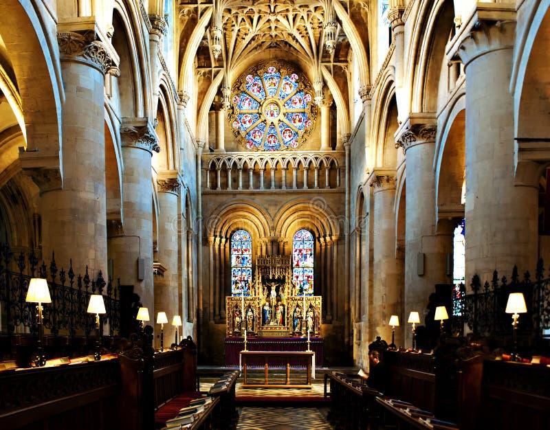 Altar en la iglesia Oxford de Cristo imagenes de archivo