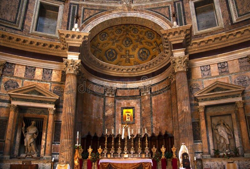 Altar-Goldikonen-Pantheon Rom Italien stockfotos