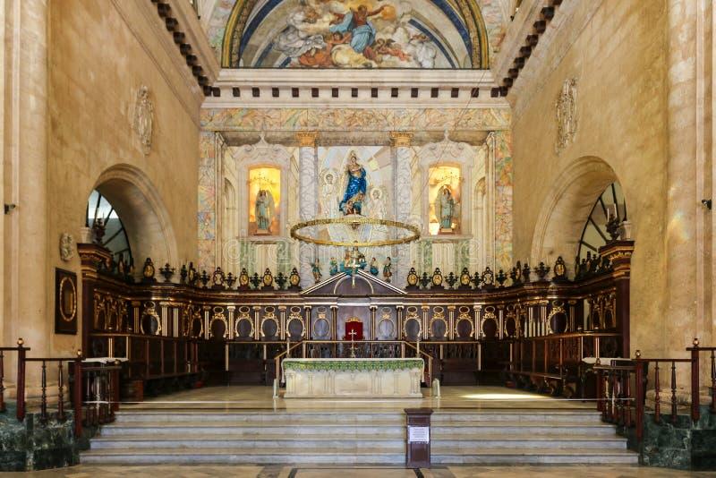 Altar of the Havana Cathedral, Cuba, Havana stock photos