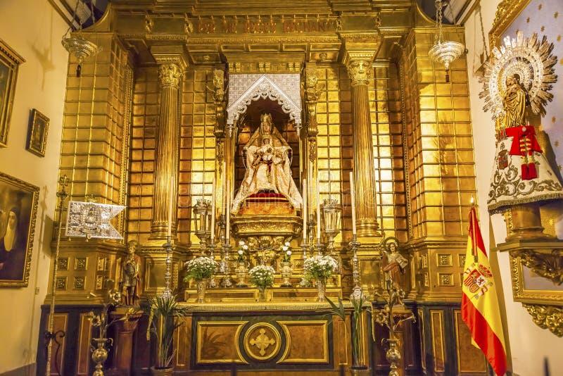 Altar Mary Jesus Statue Collegiata Madrid Spain imagen de archivo libre de regalías