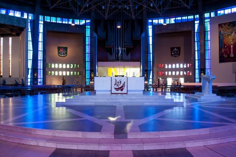 Altar na catedral metropolitana de Liverpool, Liverpool, Reino Unido fotos de stock