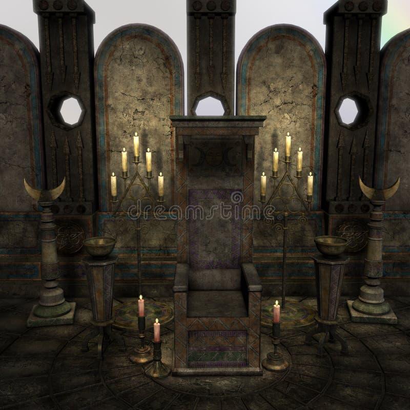 Altar o lugar sagrado arcaico en una configuración de la fantasía ilustración del vector