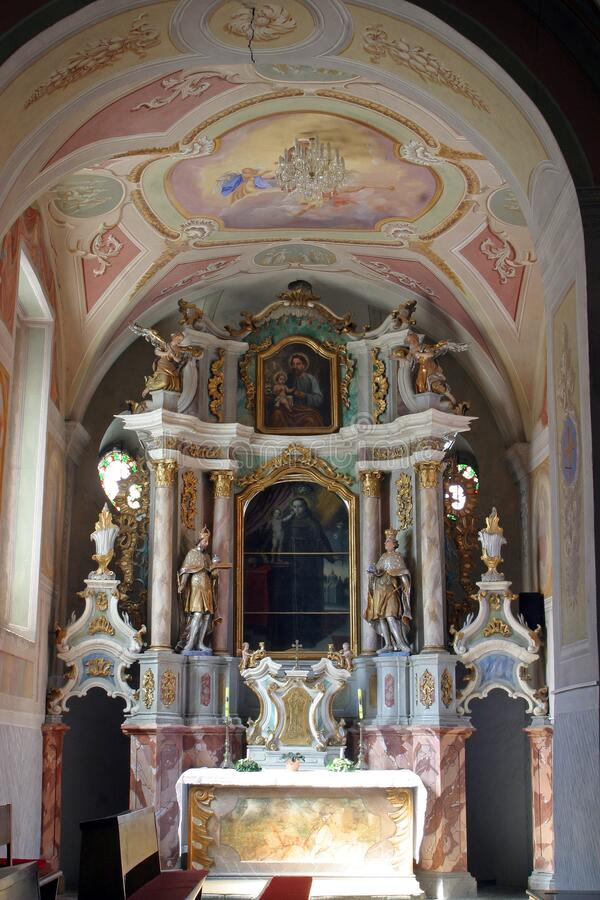 Free Altar Of Saint Anthony Of Padua In The Church Annunciation Of The Virgin Mary In Klanjec, Croatia Royalty Free Stock Photos - 185498758