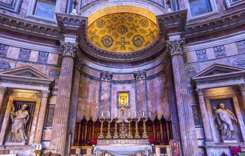 Altar-Pantheon Rom Italien stockfoto