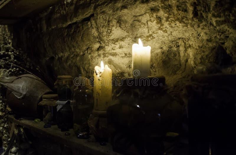 Altar para rituais satânicos imagem de stock royalty free