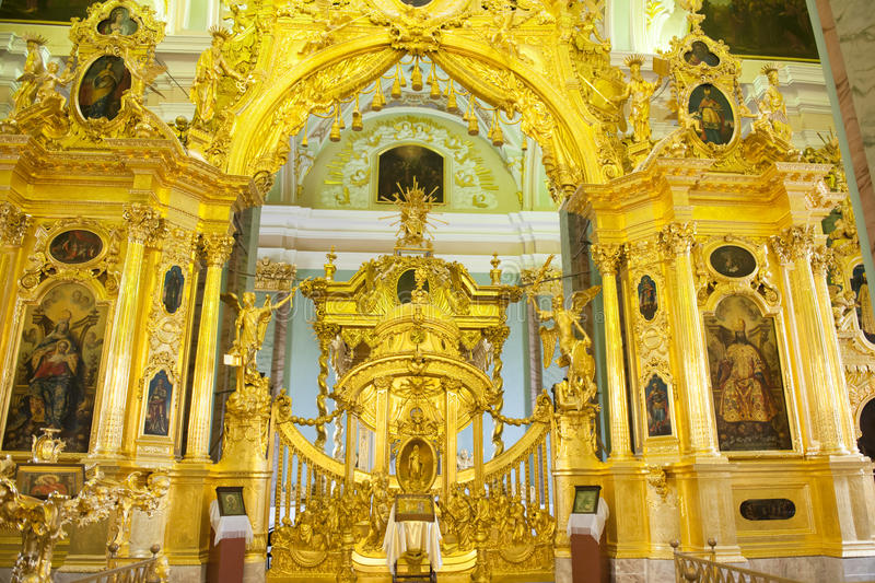 Altar Peter e Paul Cathedral, St Petersburg foto de stock royalty free