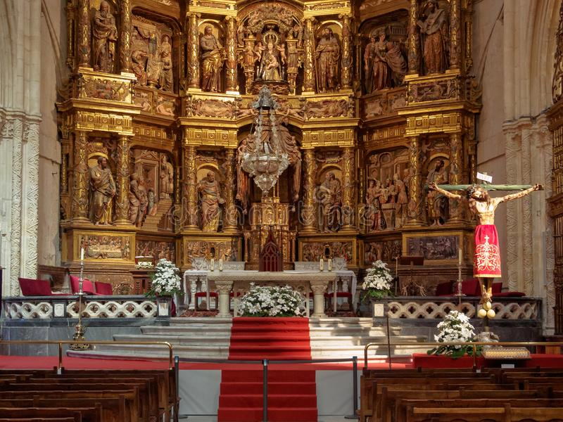 Altar principal - Burgos fotos de stock royalty free