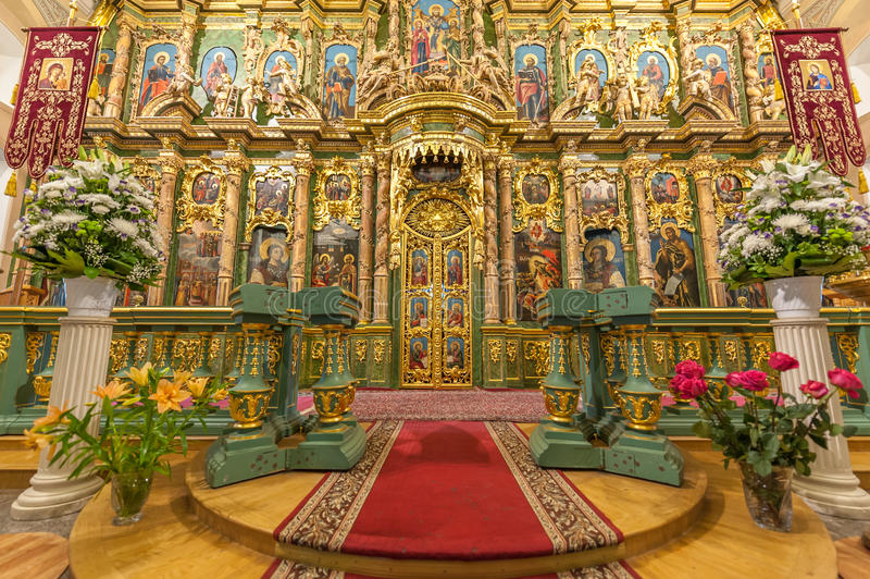 Altar rico adornado fotografía de archivo libre de regalías