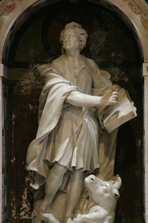 Saint Luke the Evangelist. Altar of Saint Luke the Evangelist in Zagreb cathedral stock images