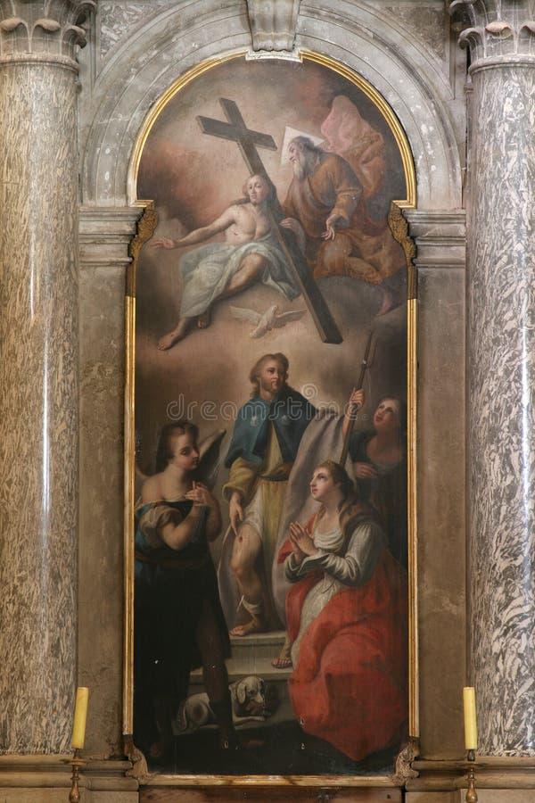 Altar of st. Roch, Church of Saint Euphemia, Rovinj. Croatia stock images