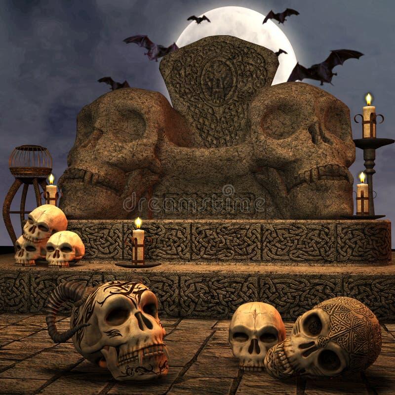 altare royaltyfri illustrationer