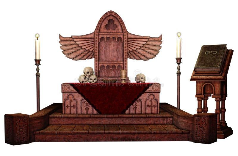 Altare alato fantasia illustrazione vettoriale