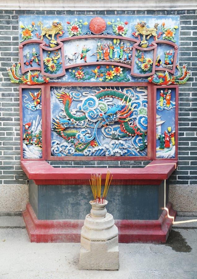 Altare cinese fotografie stock
