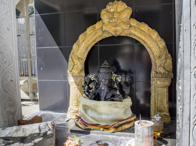 Altare del dio Ganesh dell'elefante indiano fotografia stock libera da diritti