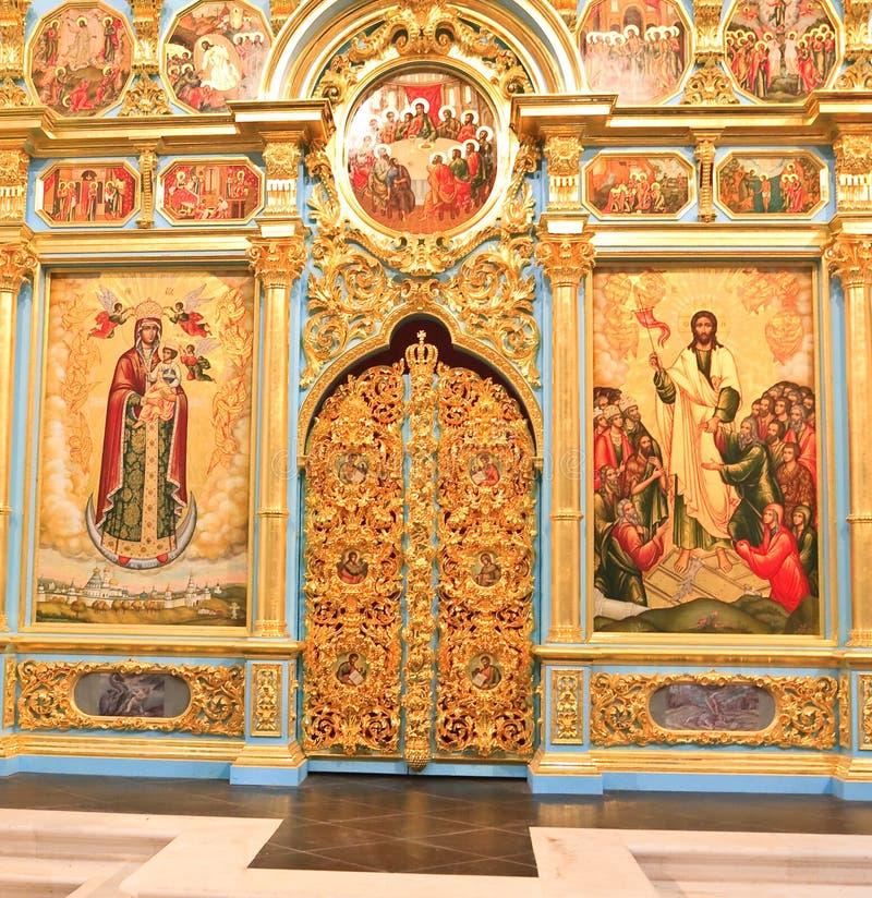 Altare della cattedrale della resurrezione La Russia Istra La Russia fotografia stock
