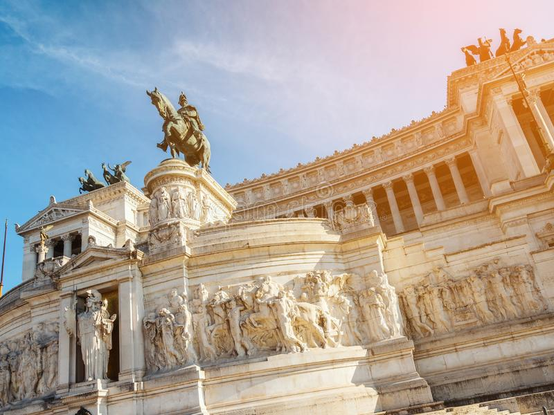 Altare della Patria в Риме , Италия стоковая фотография