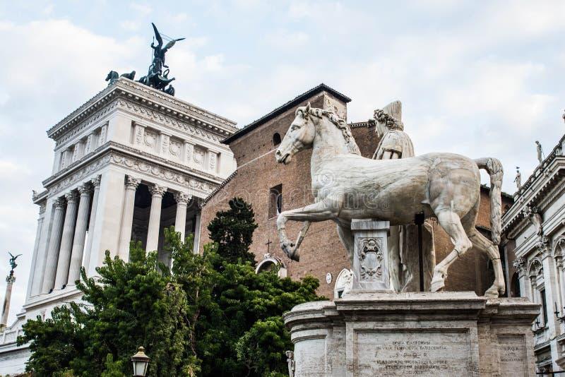 Altare della Patria, detalj Rome, Italien arkivbild
