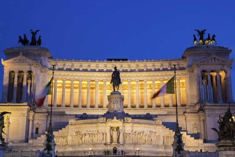 Altare della Patria i Rome, Italien royaltyfri fotografi