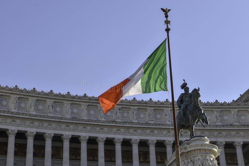 Altare della Patria, nationell monument till Vittorio Emanuele II royaltyfria foton