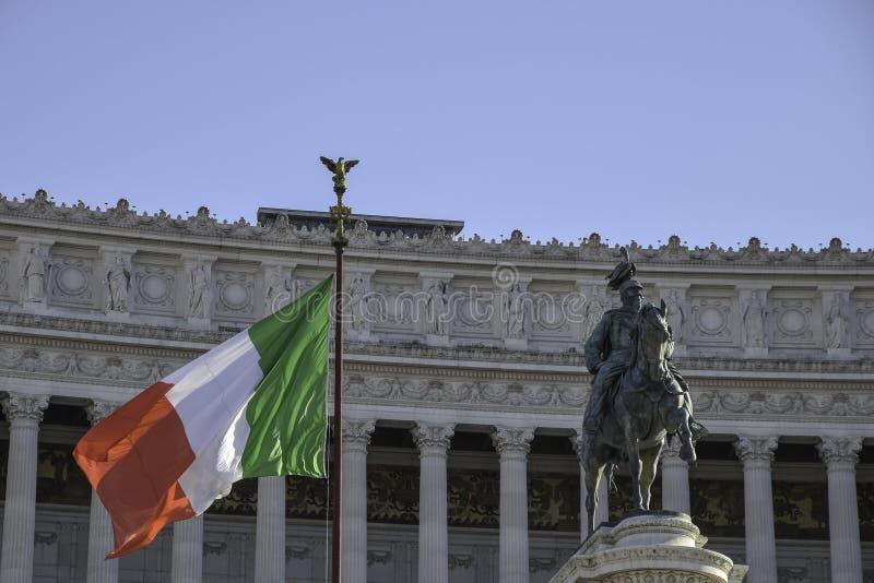 Altare della Patria, nationell monument till Vittorio Emanuele II royaltyfri bild