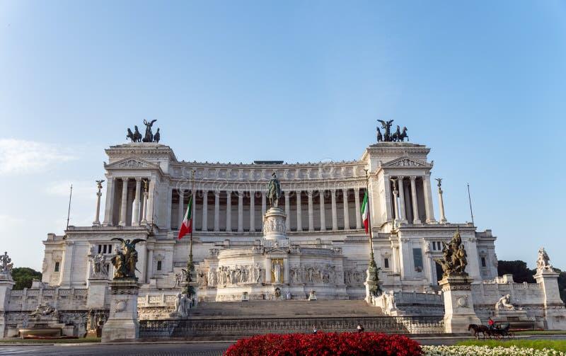Altare della Patria på ottan - Rome, Italien royaltyfri fotografi