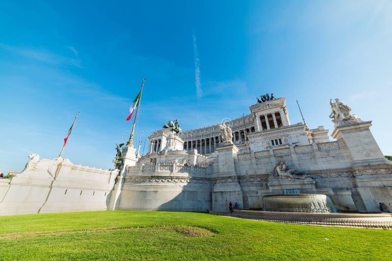 Altare della patria in piazza Venezia a Roma immagine stock