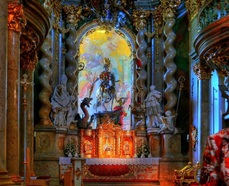 Altare di Asam di Weltenburg immagini stock libere da diritti