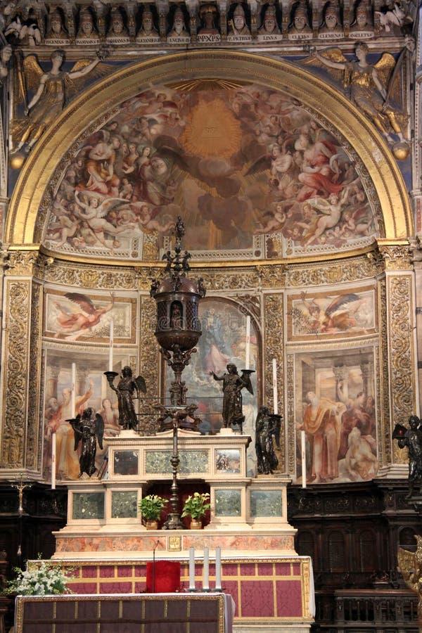 altare Di Duomo Siena fotografia stock