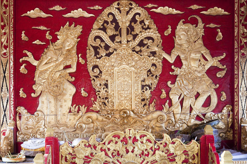 Altare di preghiera, Pura Besakih, Bali, Indonesia immagini stock libere da diritti