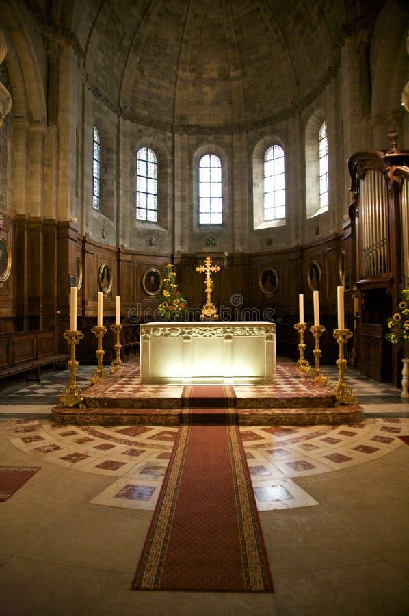 Altare illuminato fotografie stock libere da diritti