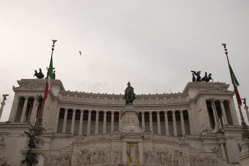 Altaredella Patria, IL Vittoriano, Rome, Italië stock foto