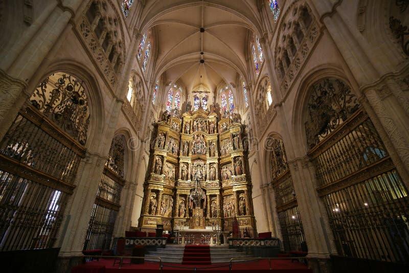 Altarpiece в главной часовне собора Бургоса стоковое фото