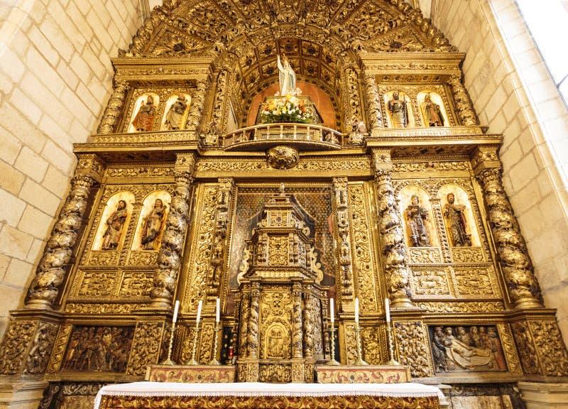 Altarpiece приходской церкви †Escalhao « стоковое изображение