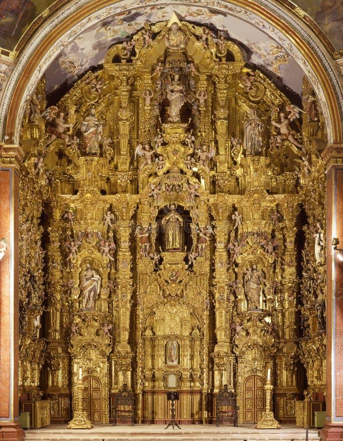 Altarpiece de Tepotzotlan fotos de archivo libres de regalías