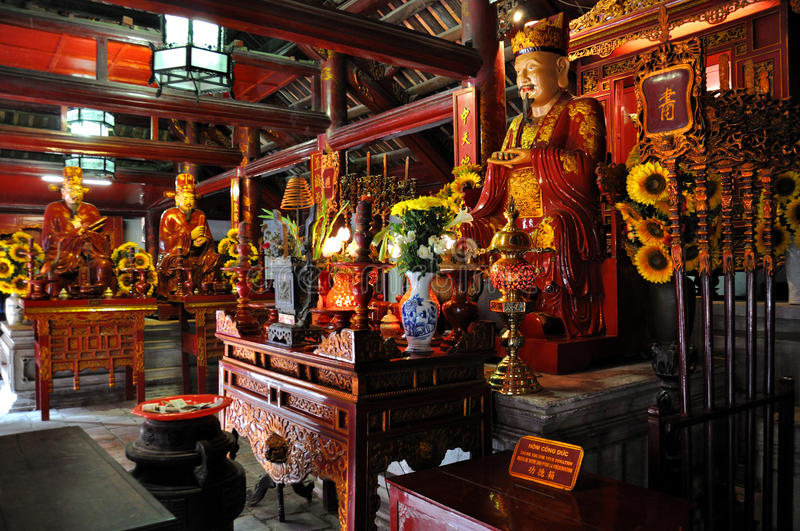 Altars to Confucius and his disciples royalty free stock images