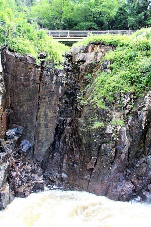 Altas caídas garganta, Wilmington, Nueva York, Estados Unidos imágenes de archivo libres de regalías