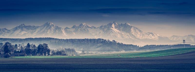 Altas montañas de Tatra foto de archivo libre de regalías