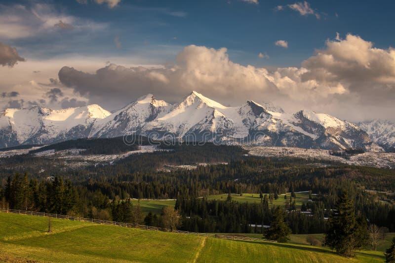 Altas montañas de Tatra en Polonia imagen de archivo libre de regalías