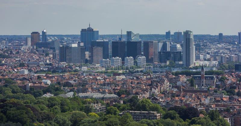 Altas subidas de Bruselas imagen de archivo libre de regalías