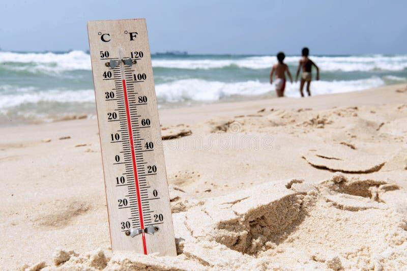 Altas temperaturas da onda de calor imagem de stock royalty free