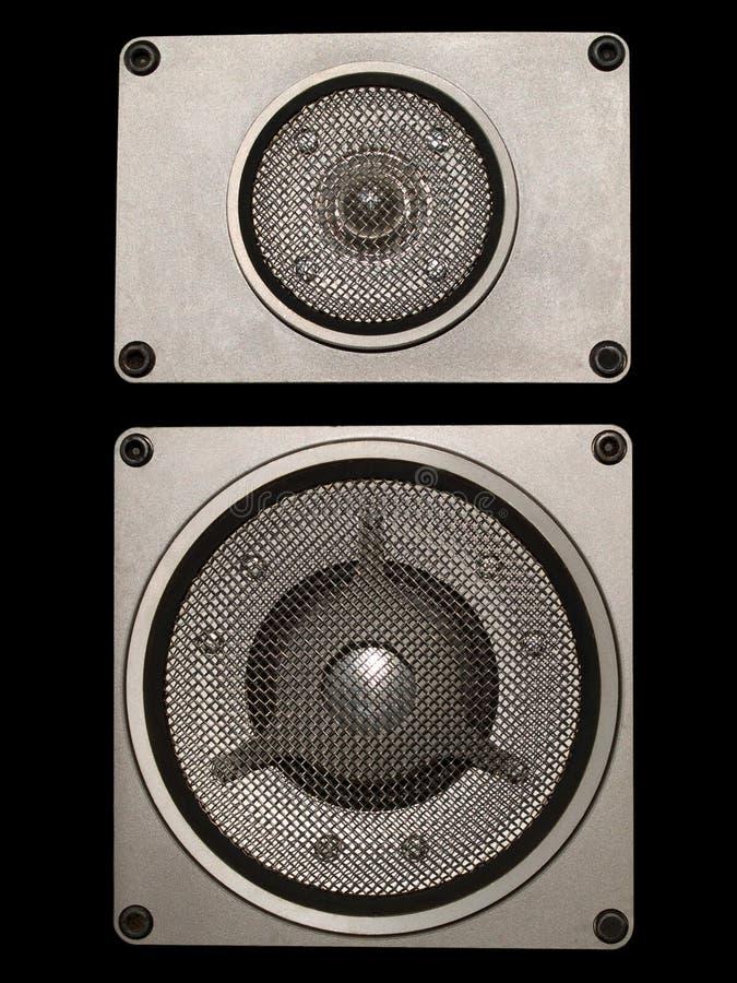 Altavoces audios de alta fidelidad imagen de archivo libre de regalías