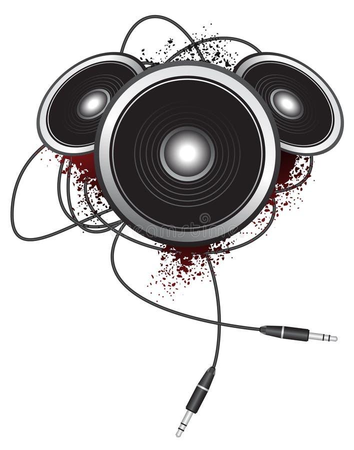 Altavoces de Grunge libre illustration