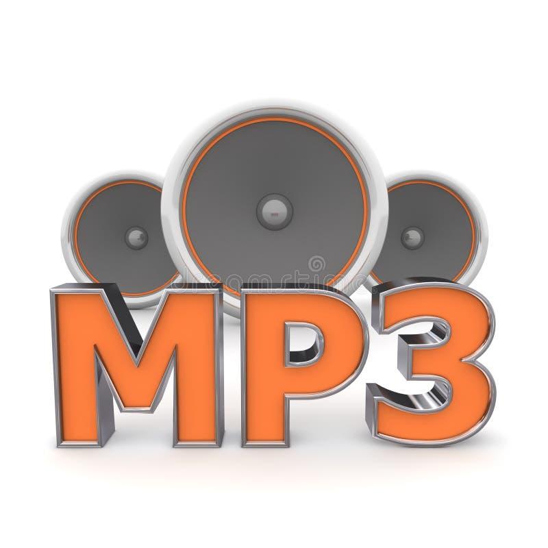 Altavoces MP3 - Anaranjado stock de ilustración