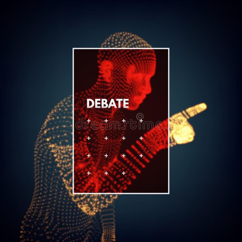 altavoz Concepto de discusiones, de seminario o de elección Candidato del partido implicado en el discusión ilustración del vector