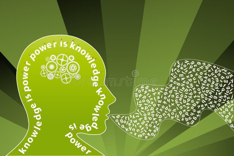 Altavoz creativo de la mente del conocimiento stock de ilustración