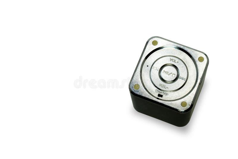 Altavoz inalámbrico del cubo negro del top imagen de archivo libre de regalías