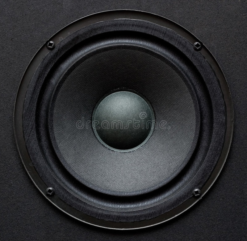 Altavoz para bajas audiofrecuencias fotos de archivo libres de regalías
